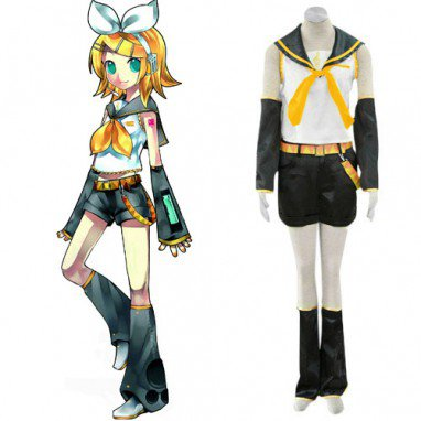 Vocaloid Rin Halloween Cosplay Costume
