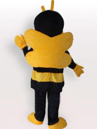 Yellow Black Short Plush Adult Mascot Costume