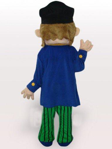 Colorful Pirate Short Plush Adult Mascot Costume