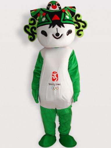 Fuwa Green Short Plush Adult Mascot Costume