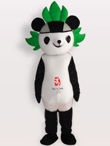 Fuwa Short Plush Adult Mascot Costume