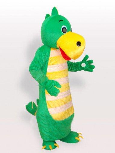 Green Dragon Adult Mascot Costume