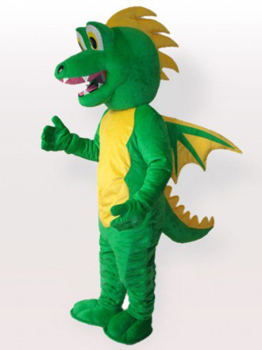 Green Stegosaurus Adult Mascot Costume