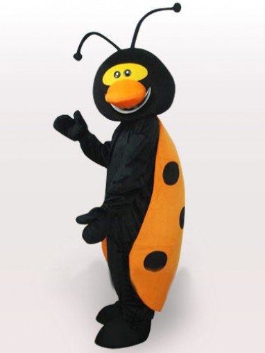 Ladybug Short Plush Adult Mascot Costume