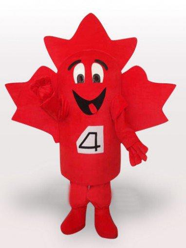 Maple Leaf Short Plush Adult Mascot Costume