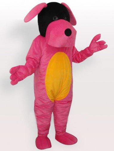Pink Dog Adult Mascot Costume