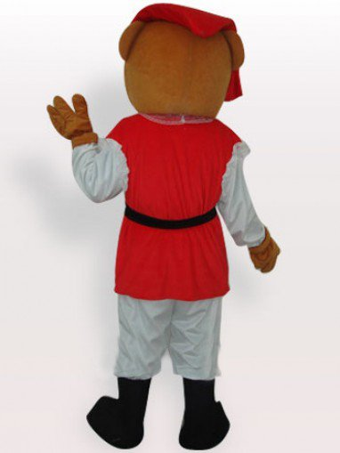 Private Bear Short Plush Adult Mascot Costume