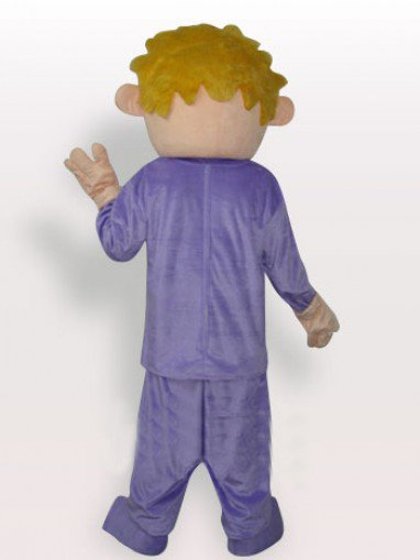 Superior Boy Short Plush Adult Mascot Costume