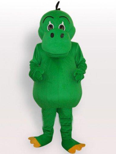 Top Green Dinosaur Short Plush Adult Mascot Costume
