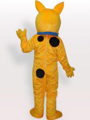 Top Yellow Dog Short Plush Adult Mascot Costume