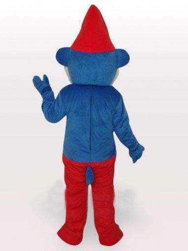 Blue Spirit Short Plush Adult Mascot Costume