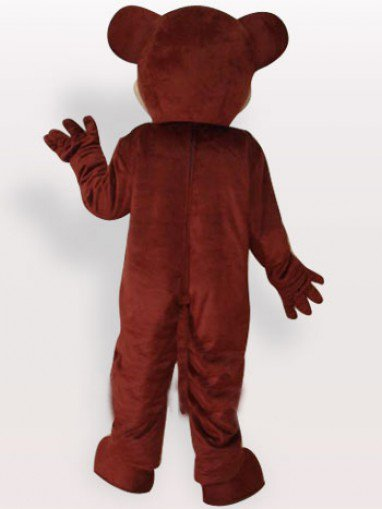 Brown Bear Short Plush Adult Mascot Costume