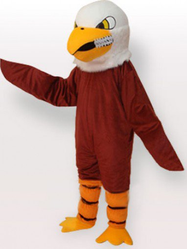 Brown Eagle Short Plush Adult Mascot Costume