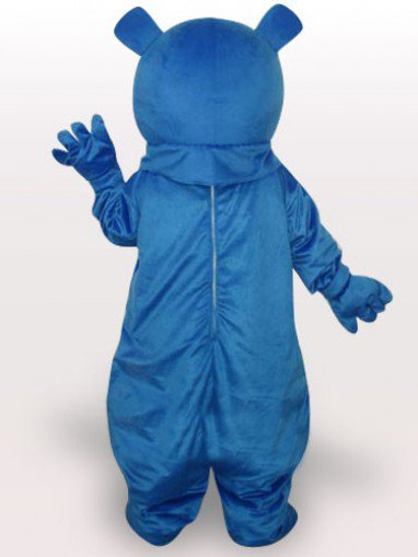 Cheap Blue Bear Short Plush Adult Mascot Costume