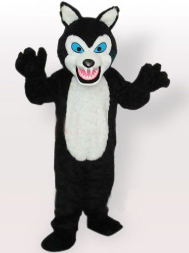 Classic Black Wolf Adult Mascot Costume