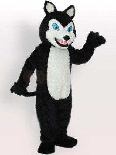 Little Black Wolf Adult Mascot Costume
