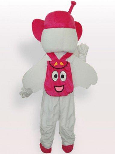 Moto Angel Short Plush Adult Mascot Costume