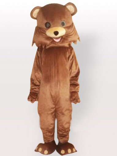 Mouth Jamming Bear Adult Mascot Costume