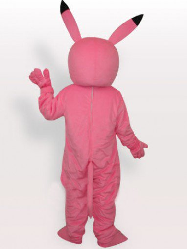 Pink Pikachu Short Plush Adult Mascot Costume