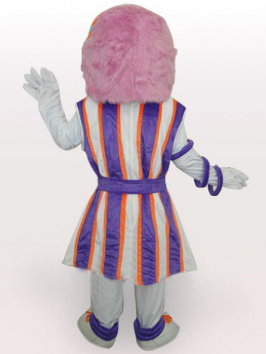 Purple Hair Girl Short Plush Adult Mascot Costume