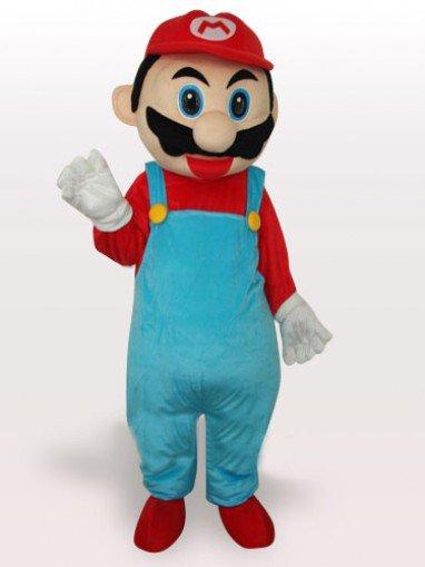 Red Captain Short Plush Adult Mascot Costume