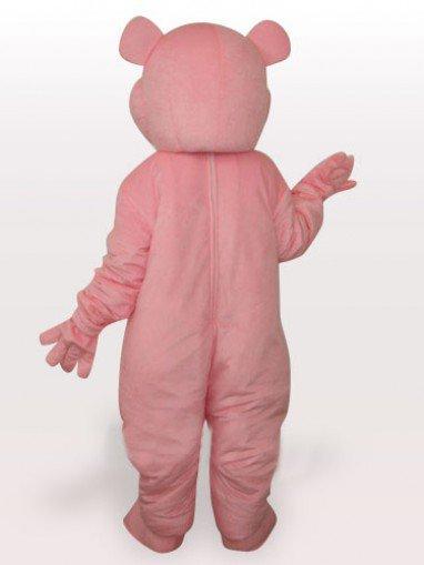 Red Heart Bear Short Plush Adult Mascot Costume