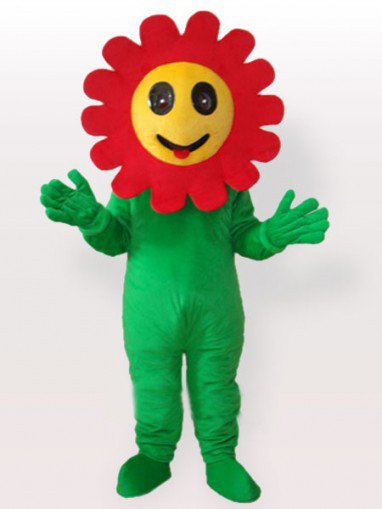 The Giggling Sun Flower Adult Mascot Costume