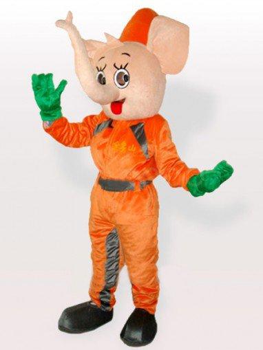 Yellow Elephant Adult Mascot Costume