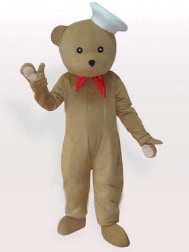 Bear Chef Adult Mascot Costume