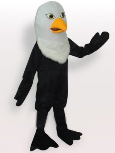Black Eagle Short Plush Adult Mascot Costume