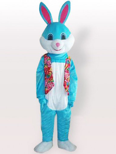 Blue Rabbit Adult Mascot Costume