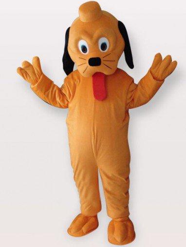 Cool Yellow Dog Short Plush Adult Mascot Costume