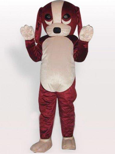 Lucky Dog Short Plush Adult Mascot Costume