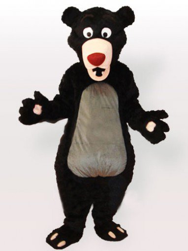 Obese Cartoon Moon Bear Adult Mascot Costume