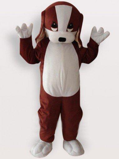 Perfect Dog Short Plush Adult Mascot Costume
