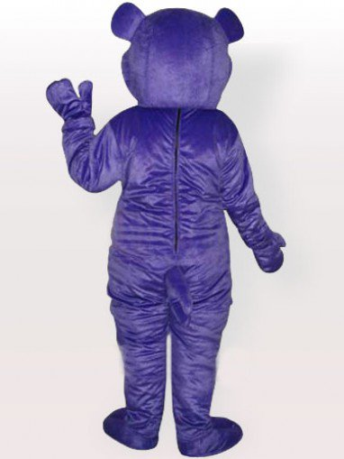Purple Bear Adult Mascot Costume