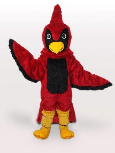 Red Hawk Short Plush Adult Mascot Costume