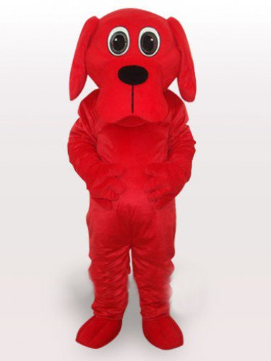 Red Rooney Dog Adult Mascot Costume