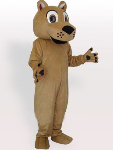 Beeping Face Lion with No Beard Adult Mascot Costume