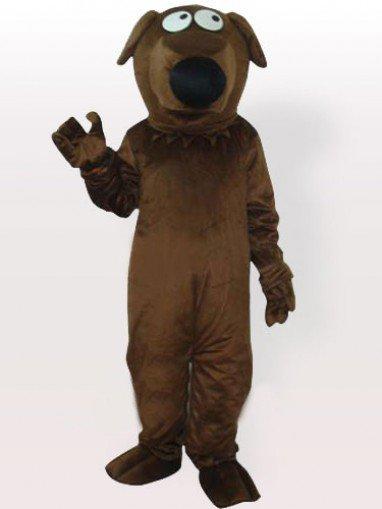 Big Nose Grey Dog Adult Mascot Costume