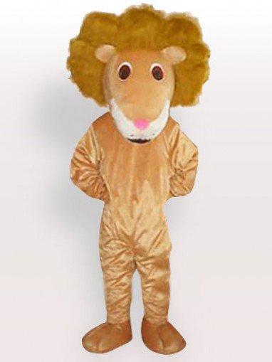 Lion of Curving Hair Adult Mascot Costum