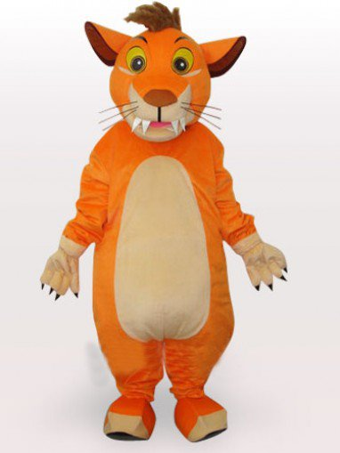 Perfect Lion Short Plush Adult Mascot Costume