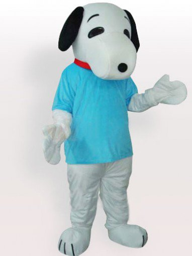 Snoopy In Blue T-shirt Adult Mascot Costume