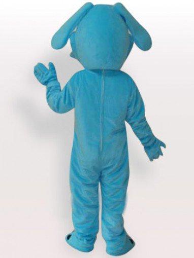 Top Blue Dog Short Plush Adult Mascot Costume