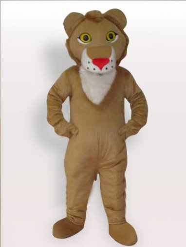 Top Lion Short Plush Adult Mascot Costume
