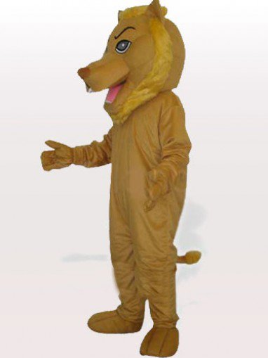 Yellow Push Lion Adult Mascot Costume