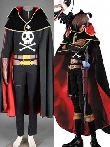 Galaxy Express 999 Captain Herlock Halloween Cosplay Costume