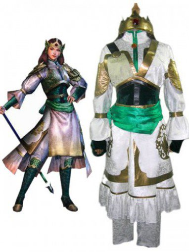 Dynasty Warriors IV Yueying Huang Halloween Cosplay Costume