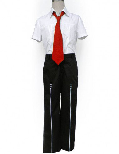 Short Sleeves Red Tie Starry Sky Seigatsu Academy Male Summer Uniform Halloween Cosplay Costume