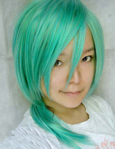 StarrySky Green Long Wig